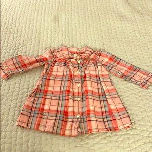 Cute pink plaid dress gap 18-24mo